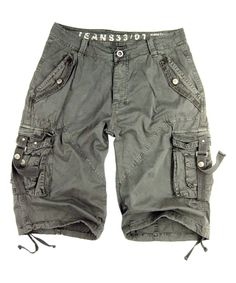 This Light Gray Strap-Pocket Cargo Shorts - Men's Regular & Big by Stone Touch is perfect! #zulilyfinds