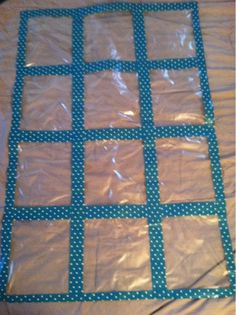 Lesson Plans & Lattes:  - duct tape and sheet protectors(?) make a quilt for student work.