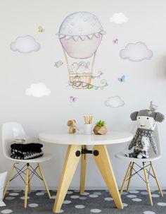 Little Deco Wandaufkleber Mädchen Wandtattoo Heißluftballon Ballons Kinder DL373