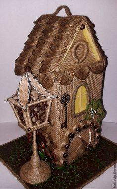 Кухня ручной работы. Ярмарка Мастеров - ручная работа. Купить Чайный домик. Handmade. Декоративный домик, оригинальный подарок, мешковина