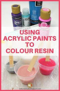 Creating a Faux Marble Finish in Resin - With Acrylic Paints - Diy craft - Learn how to colour resin with acrylic paint and create a marbled effect. This is an easy, but mess -