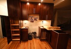 Pull out pantry in cabinets