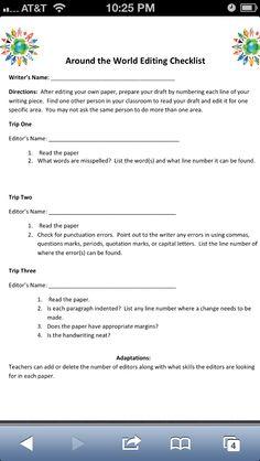 Essay writer       per page   Homework helpline for wise co schools Peer Editing Checklist  Essay writing
