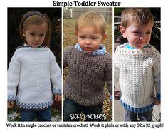 Ravelry: Simple Toddler Sweater pattern by Sick 'Lil Monkeys