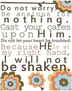 I will not be shaken | For all the worriers out there | Print from emrick123 on Etsy