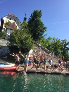 Swim from Lake Bled island in Slovenia!