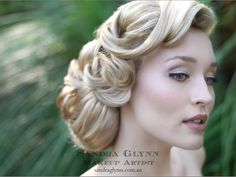 Grace Kelly Inspired  Makeup by Sandra Glynn  Hair -Lizzie Liros,  my mom wants her hair done in this style. I'm not sure she could do it her hair is to short for that. Its not really what i thought she would pick I thought she would want something more classic like a french twist.