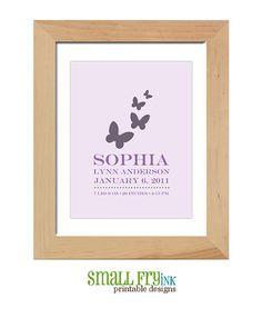 Manifesto di annuncio nascita farfalla personalizzata    * Controllare il mio corrispondente zucchero & Spice stampa!