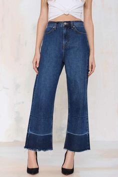 Nasty Gal Denim - Mad Crops Wide Leg Jean - Denim | Denim