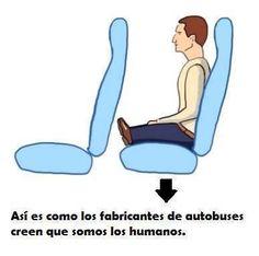 Cómo creen los constructores de autobuses que somos los humanos. #Humor