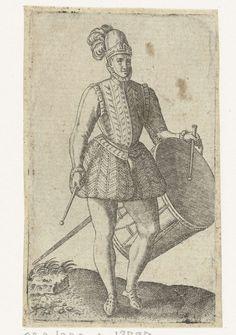 Soldaat-tamboer, Abraham de Bruyn, 1550 - 1587