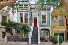 Top floor 2 bdrm condo for sale in this Noe Valley Victorian.