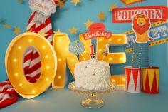 cakesmash smashcake circus birthday firstbirthday
