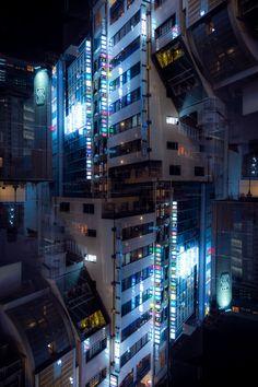 Megacity by burningmonk Aesthetic Japan, Urban Aesthetic, Night Aesthetic, City Aesthetic, Blue Aesthetic, Urban Photography, Street Photography, Japanese Photography, Arte Drake