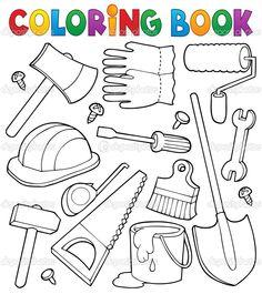 herramientas de carpintero para colorear - Buscar con Google