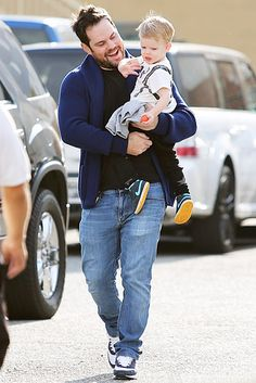Hilary Duff's ex Mike Comrie stepped out with their son Luca in Beverly Hills on Feb. 4