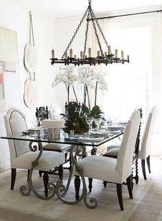 Dining room . Love that Candelabra!