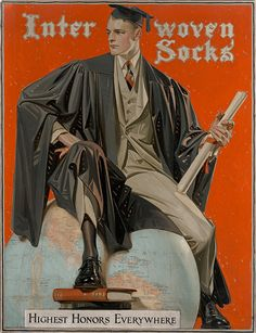 Interwoven Stocking Company of New Brunswick, New Jersey  first commissioned American illustrator J.C. Leyendecker to create artwork for their advertisements in the early 1900s. The working relationship proved successful for both parties and lasted for over 20 years. This original painting is part of the Haggin Museum's extensive Leyendecker collection.