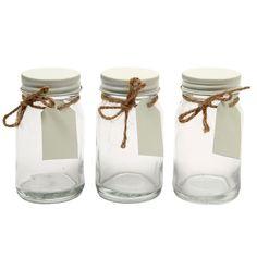 Wedding glass favour jars - set of 10