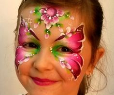 beautiful butterfly face paint mask by Olga Meleca - click through for Olgas aussie workshops 2015