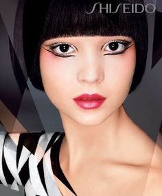 The blush placement! All Shiseido ads make me want all the Shiseido, btdubs.