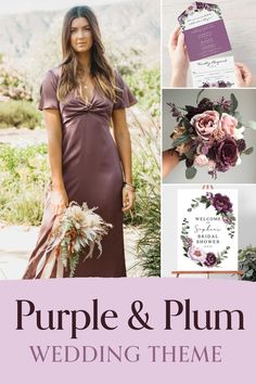 Plan your dream wedding with shades of purple, plum and lavender. Matching invitations, menus, programs, signage and decor. Wedding favors, bridesmaid gift ideas, groomsmen ties and more. Printable templates or have printed designs shipped to you. Plum Wedding, Floral Wedding, Dream Wedding, Wedding Vendors, Wedding Favors, Decor Wedding, Bridesmaid Gifts, Bridesmaid Dresses, Wedding Dresses