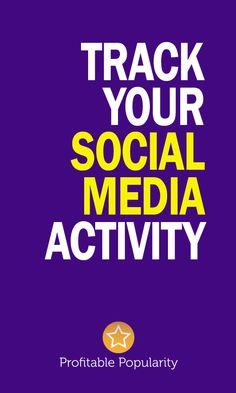 Track your social media activity