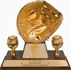 Wes Parker's 1967 Gold Glove from Rawlings