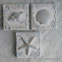 Seashells and Starfish Plaster of Paris Wall Art | * N I C H E * | Pinterest | Paris wall art Starfish and Walls & Seashells and Starfish Plaster of Paris Wall Art | * N I C H E ...