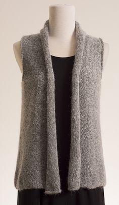 Kennita Tully Shale Vest Knitting Pattern PDF