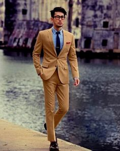 Shia LeBeouf nailing brown suit by finding its natural ally, the