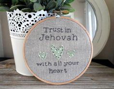 Embroidered Hoop Art NWT Bible Scripture great by GoodgiftsforJWs, £14.99