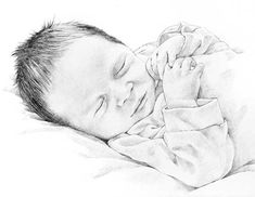 Baby pencil - realistic drawings - art