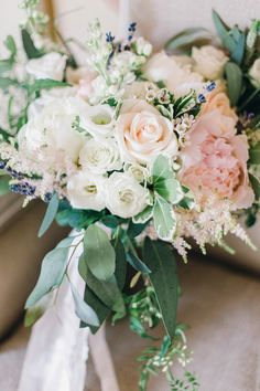 English country garden wedding bouquet. Images by Jessica Reeve Photography