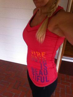 @Reebok  CrossFit tank: Strength is Beautiful #LiveWithFire