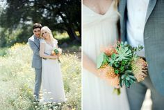 Handmade Wedding at Parker Ranch: adorable and unusual bouquet
