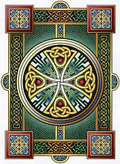 """Durrow"" Cross Stitch Pattern - A classic example of Celtic art, inspired by centuries-old illuminated manuscripts."