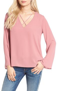 Lush Lush Cross Front Blouse available at #Nordstrom