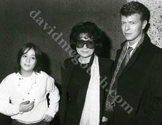 Sean and Yoko with David Bowie