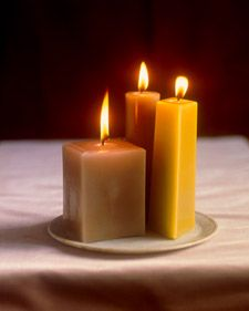 Make your own molded candles (use household items like baking tins, or use decorative objects to make your own molds)