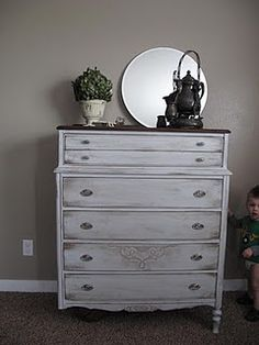 There is just something about distressed furniture :)