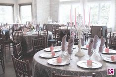 Pink and Grey Wedding Reception   An Elegant Cathedral Oaks Wedding: Pink and Grey Rule the Day » Kelly ...