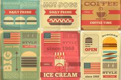 fast food posters collection by elfivetrov on @creativemarket