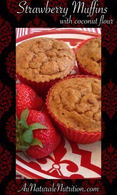 Rise 'N Shine Strawberry-Vanilla Muffins. They're Gluten and Grain-Free! (paleo, primal)
