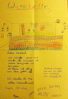 Wunschzettel einer Mädchengruppe eines Kölner Kinderheimes.  Weihnachtsspende 2013 -> http://uniqz.de/?p=4005