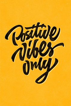 Positive vibes only custom hand lettering apparel t-shirt print design, typographic composition phrase quote poster Typography Quotes, Typography Letters, Creative Typography, Positive Vibes Only, Positive Quotes, Postive Vibes, Positive Art, Staying Positive, Yen Yang