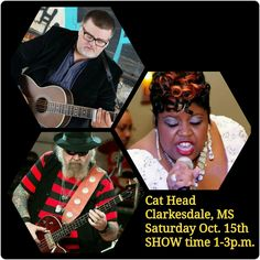 Ever wonder what happens when Missouri Blues men and a Mississippi Blueswoman get together in the Delta??? Well come on out Saturday, October 15th as we have a great time on the porch at the Cat Head in Clarkesdale, MS as The Matthew Ritchie Band ft/ The Duchess Jureesa make magic with the blues!!! #CatHead #RogerStolle #TeamDuchess #BluesInTheAir