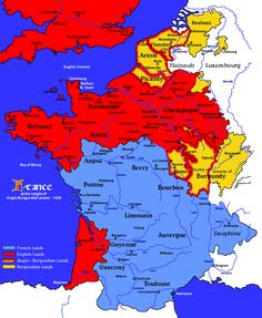 1429 French, English, Burgundian and Anglo-Burgundian lands