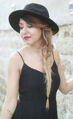 hair blonde long hair fish braid