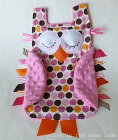 Owl taggie blanket! | Baby